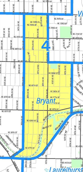 Bryant, Seattle - Image: Seattle Bryant map