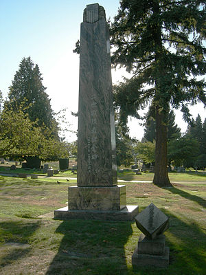 Lake View Cemetery (Seattle) - Nisei War Memorial, Lake View Cemetery