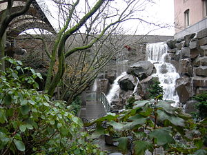 Pocket park - Waterfall Garden Park, Pioneer Square, Seattle, Washington