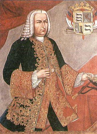 Battle of Cartagena de Indias - Sebastián de Eslava, Viceroy of New Granada from an 18th-century painting