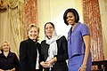 Secretary Clinton With First Lady Michelle Obama and Honoree Col. Shafiqa Quraishi of Aghanistan (4438235030).jpg