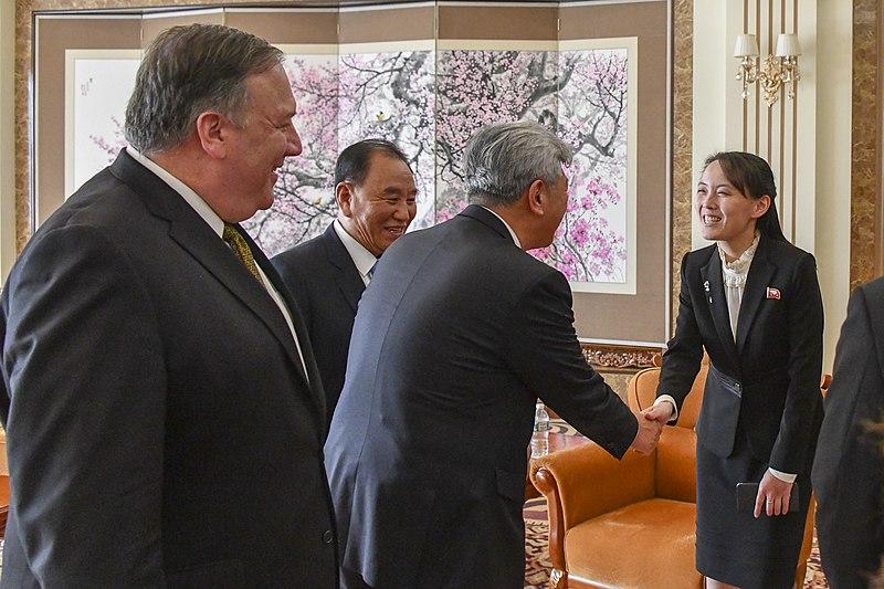 File:Secretary Pompeo Receives Photos from Kim Yo Jong in Pyongyang (44240182715).jpg