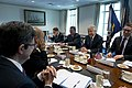 Secretary of Defense Chuck Hagel meets with French Minister of Defense Jean-Yves Le Drian at the Pentagon.jpg