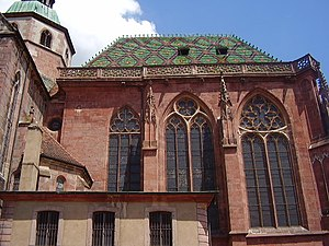St. George's Church, Sélestat - Lateral view of the choir
