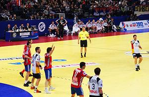 2012 European Men's Handball Championship - Match Serbia vs Germany.