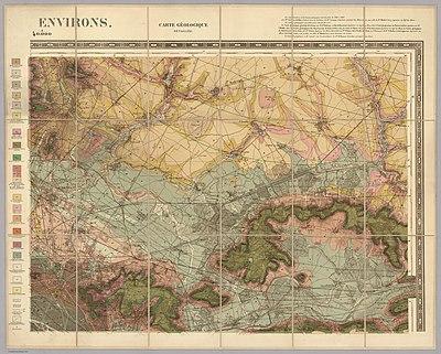 Service géologique des mines, Nord-Est - Paris et ses environs, 1890 - David Rumsey.jpg
