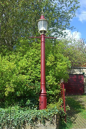 Sewer gas destructor lamp - Another Sheffield example on Rural Lane at Wadsley.