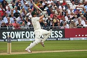 Shane Watson - Shane Watson plays a cut shot
