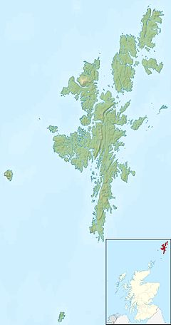 Muckle Holm, Yell Sound is located in Shetland