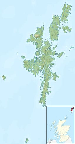 Huney is located in Shetland