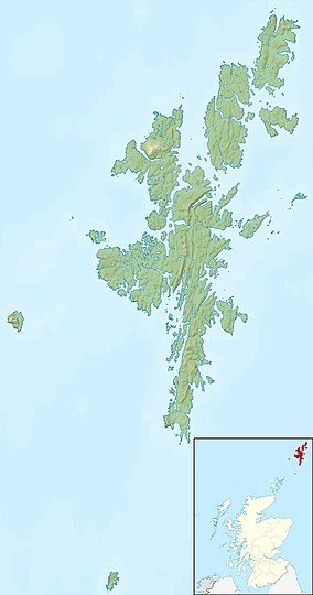 Map showing the location of Hermaness National Nature Reserve