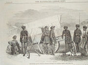 Sholapore Native (Indian) Police in Charge of a Hindoo Rebel