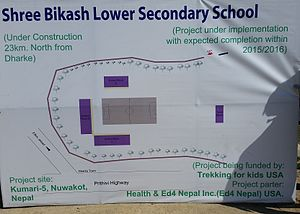 Kumari, Nepal - Plans for re-building of the school as of November 2015