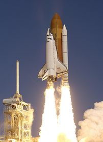 Launch of Space Shuttle Atlantis' mission, STS...