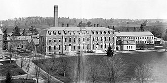 Cornell University College of Engineering - Sibley College and the Foundry, ca 1890
