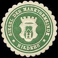 Siegelmarke Siegel der Marktgemeinde - Hilders W0262776.jpg