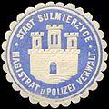Siegelmarke Stadt Sulmierzyce - Magistrat und Polizei Verwaltung W0260282.jpg