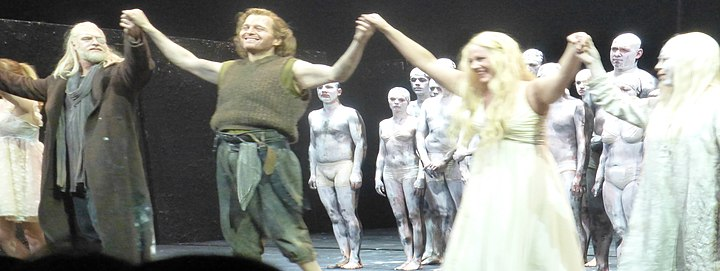 Modern costuming shown in closing bows following Siegfried in 2013 at the Bavarian State Opera in Munich Siegfried.2013.jpeg