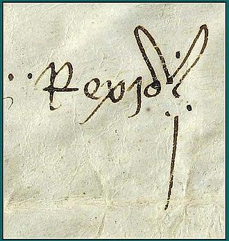 John I of Aragon - Image: Signatura joan i