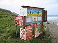 Signs at Crackington Haven Cornwall - geograph.org.uk - 102117.jpg