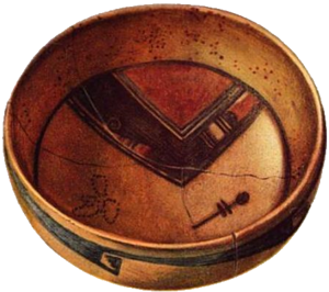 Insects in mythology - Dragonfly symbol on a Hopi bowl from Sikyátki, Arizona