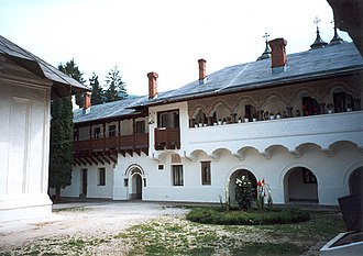 Take Ionescu - The inner courtyard of Sinaia Monastery