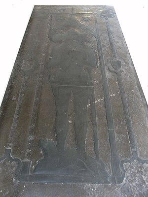 Peter Courtenay (died 1405) - Monumental brass of Sir Peter Courtenay (d.1405), Exeter Cathedral, viewed from the east