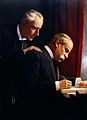 Sir Francis Laking and Sir Frederick Treves. Oil painting Wellcome L0021980.jpg
