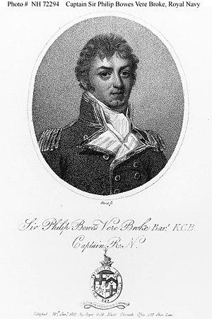 Capture of USS Chesapeake - Captain Philip Broke