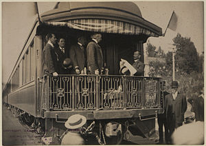 Mission, British Columbia - Prime Minister Sir Wilfrid Laurier visiting Mission City, 1910