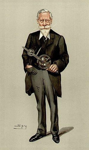 Caricature of British physicist Sir William Cr...