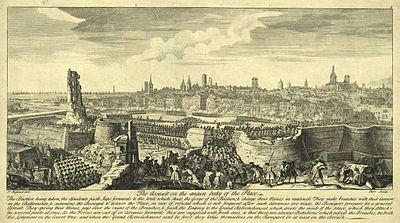 Asalto final de las tropas borbónicas sobre Barcelona el 11 de septiembre de 1714.