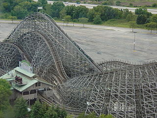Viper (Six Flags Great America) wooden roller coaster located at Six Flags Great America in Gurnee, Illinois