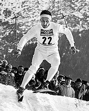 1960 Winter Olympics - Sixten Jernberg in an Olympic cross-country race