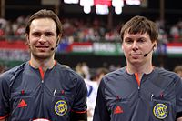 Sjarhej Repkin and Andrej Husko, Handball-Referee.jpg