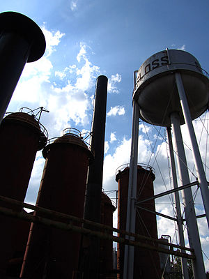 Sloss Furnaces - Visitors can walk through the remains of the Sloss Furnace