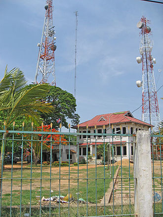 Telecommunications in Cambodia - Image: Sm kompong thom busstop telecom building