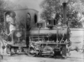 Small locomotive used to draw cane cars 2 ft. gauge, India.png