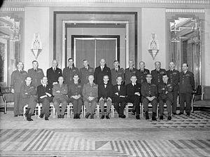 Philip Babington - Air Marshal Babington, standing seventh from left, as Air Officer Commanding-in-Chief, Flying Training Command, with the Air Council, Second World War