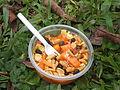 Snack saludable en caminata de Hiking Colombia.JPG