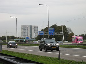 A28 motorway (Netherlands) - The A28 near interchange Rijnsweerd.