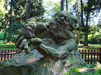 Rübezahl - Image: Socha Krakonoše, Hořice