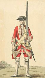 Soldier of the 31st Foot in 1742