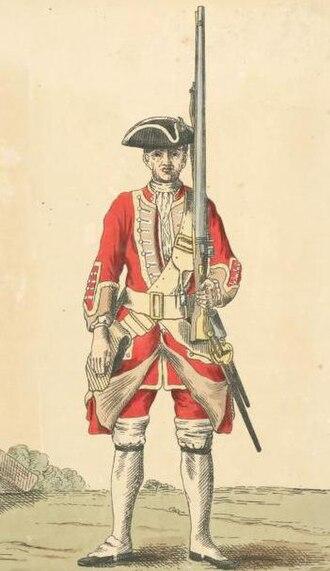 31st (Huntingdonshire) Regiment of Foot - Image: Soldier of 31st regiment 1742
