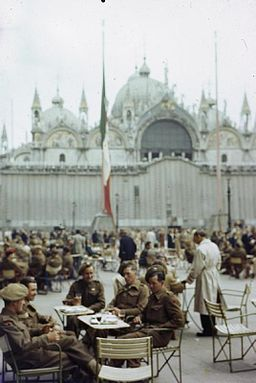 Soldiers of the British Army on Leave in Venice, Italy, June 1945 TR2889