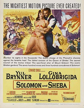 Description de l'image Solomon and Sheba theatrical release poster.jpg.
