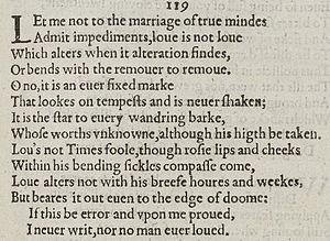 Sonnet 116 - Image: Sonnet 116 1609