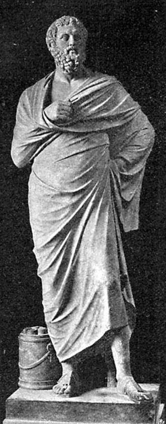Lateran Museum - The statue of Sophocles in the Lateran Museum as pictured in 1905