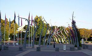 South Bank Parklands - The South Bank Arbour at the northern entrance to the South Bank Parklands, 2005