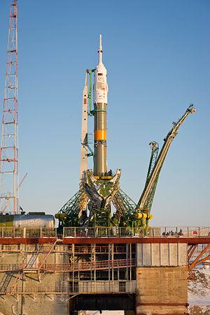 Soyuz TMA-03M - Image: Soyuz TMA 03M rocket